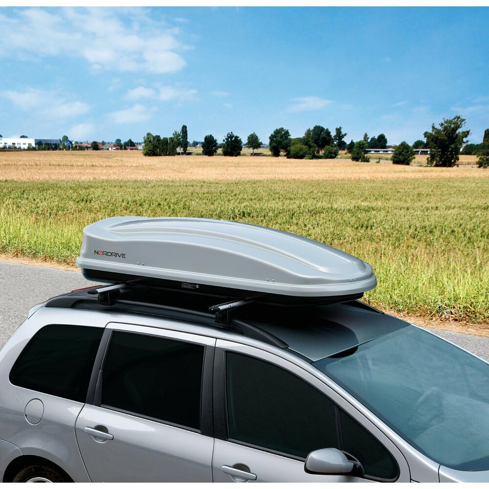 Box 430, box tetto in ABS, 430 litri - Argento lucido