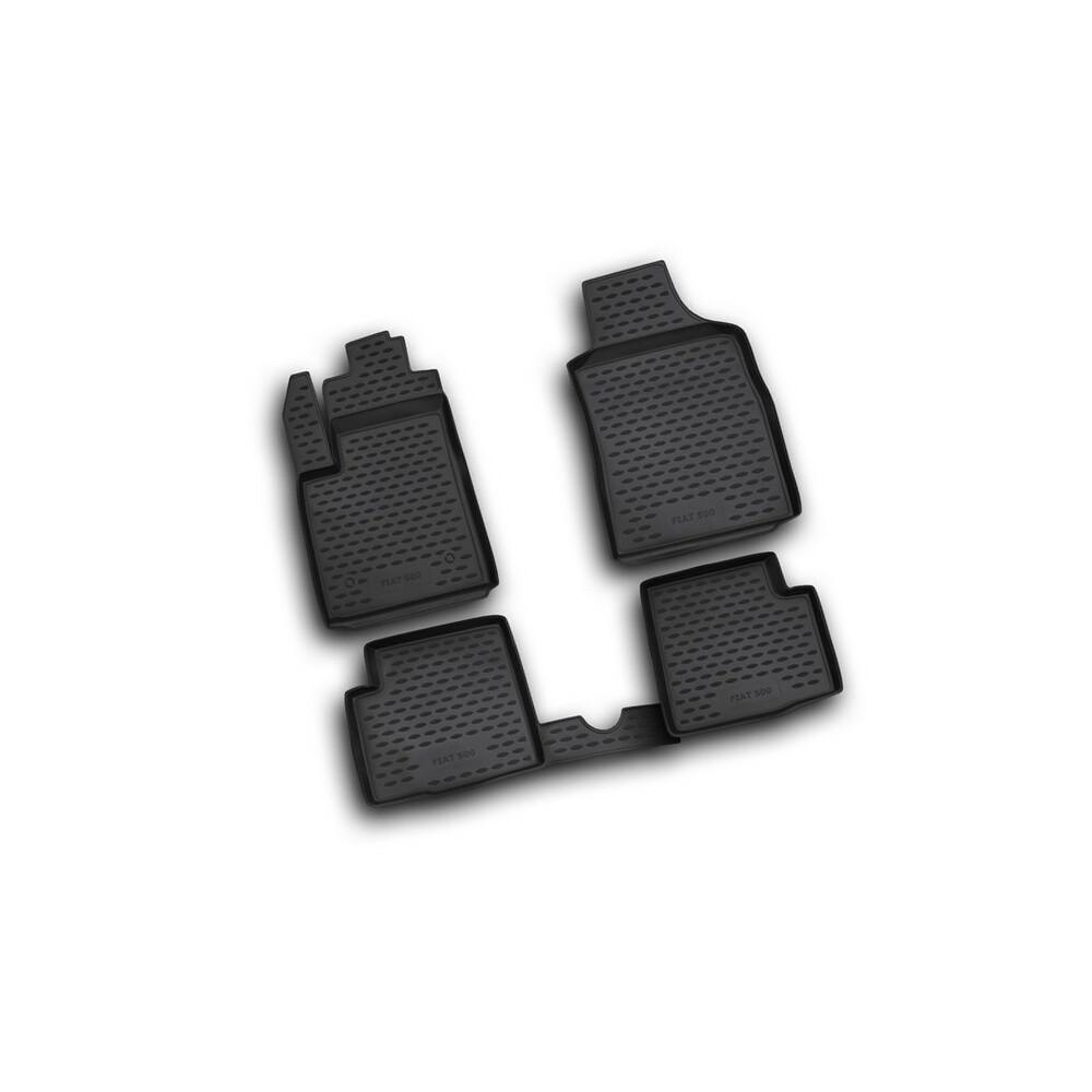 Set tappeti su misura in TPE -  Abarth 500 (07/08>05/16) -  Abarth 500C (06/10>05/16) -  Abarth 695 Biposto (12/14>) -  Fiat 500
