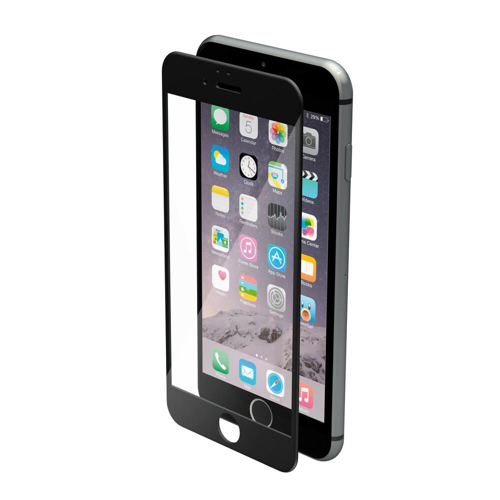 Phantom, vetro temperato protettivo da bordo a bordo - Apple iPhone 6 / 6s - Glossy Black