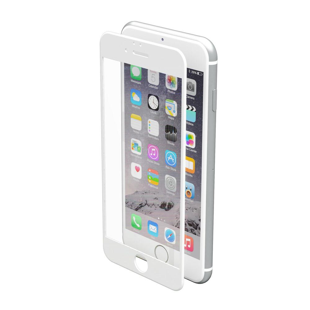 Phantom, vetro temperato protettivo da bordo a bordo - Apple iPhone 6 / 6s - Glossy White