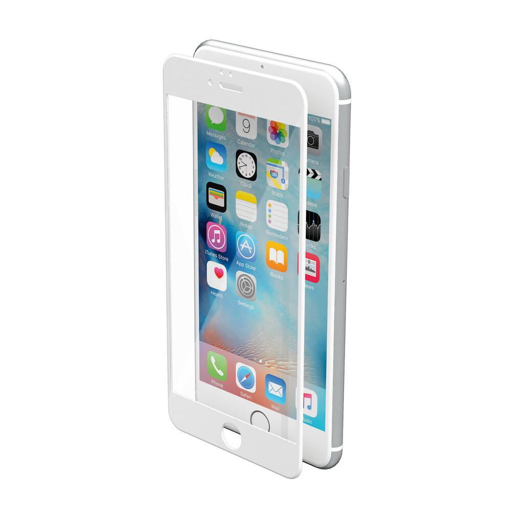 Phantom, vetro temperato protettivo da bordo a bordo - Apple iPhone 6 Plus / 6s Plus - Glossy White