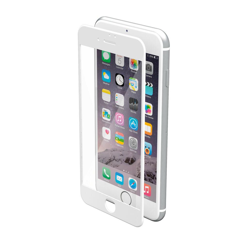 Phantom, vetro temperato protettivo da bordo a bordo - Apple iPhone 7 - Glossy White
