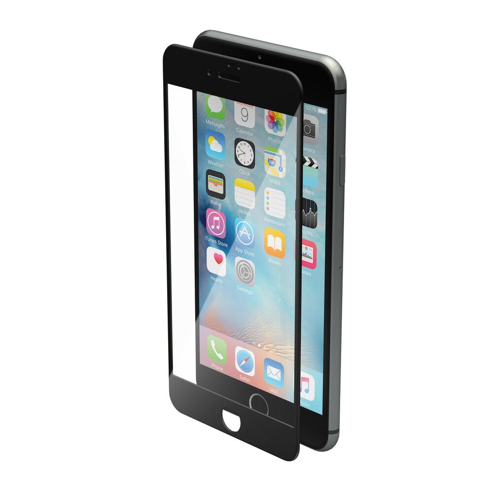 Phantom, vetro temperato protettivo da bordo a bordo - Apple iPhone 7 Plus - Glossy Black