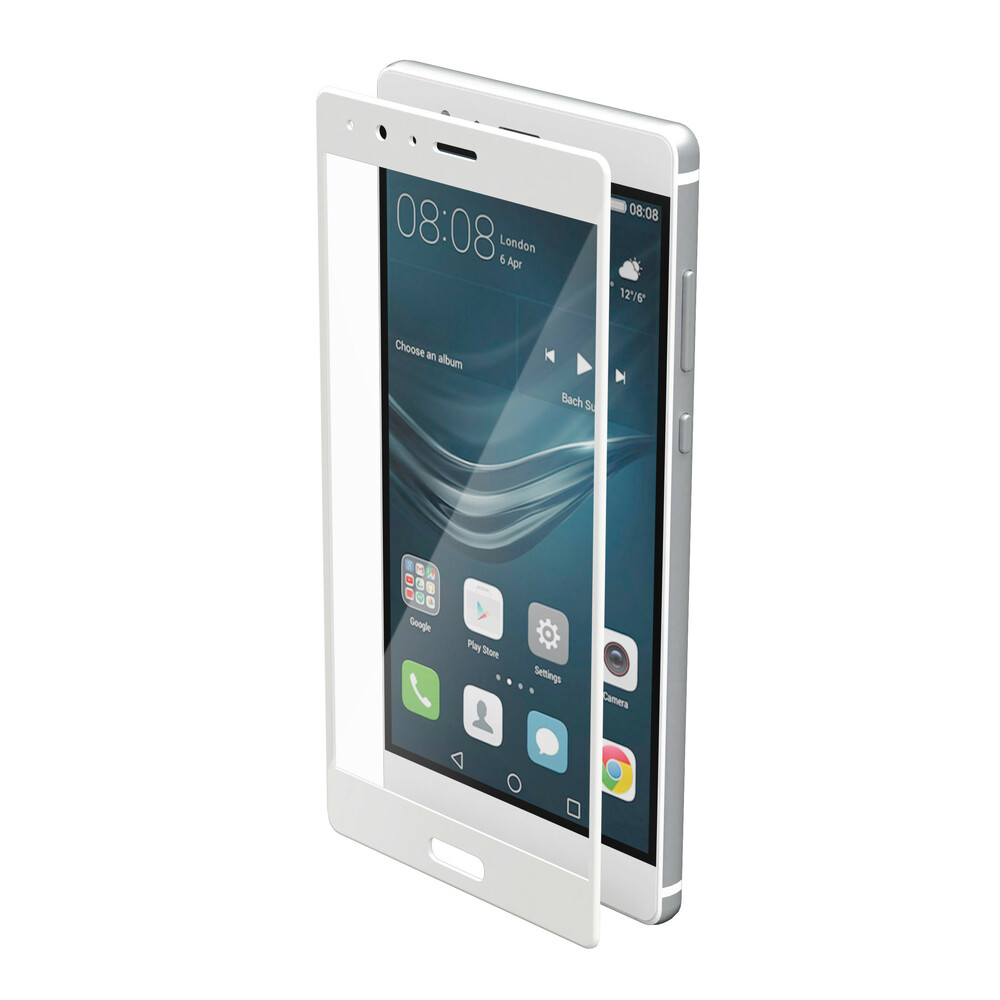 Phantom, vetro temperato protettivo da bordo a bordo - Huawei P9 Plus - Glossy White