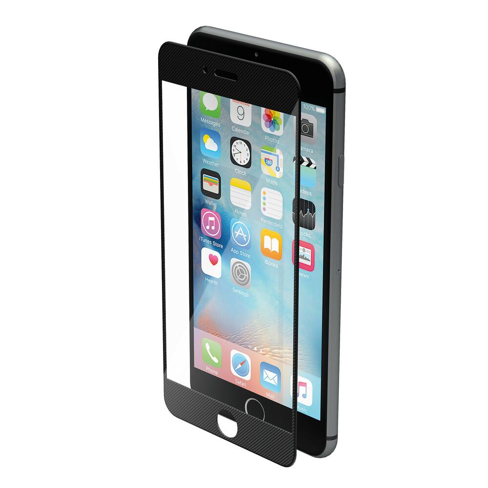 Phantom, vetro temperato protettivo da bordo a bordo - Apple iPhone 7 Plus - Pixel Black