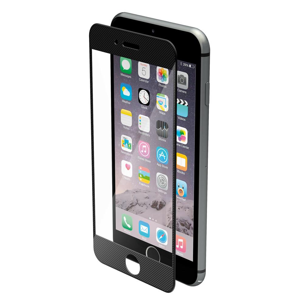 Phantom, vetro temperato protettivo da bordo a bordo - Apple iPhone 6 / 6s - Pixel Black