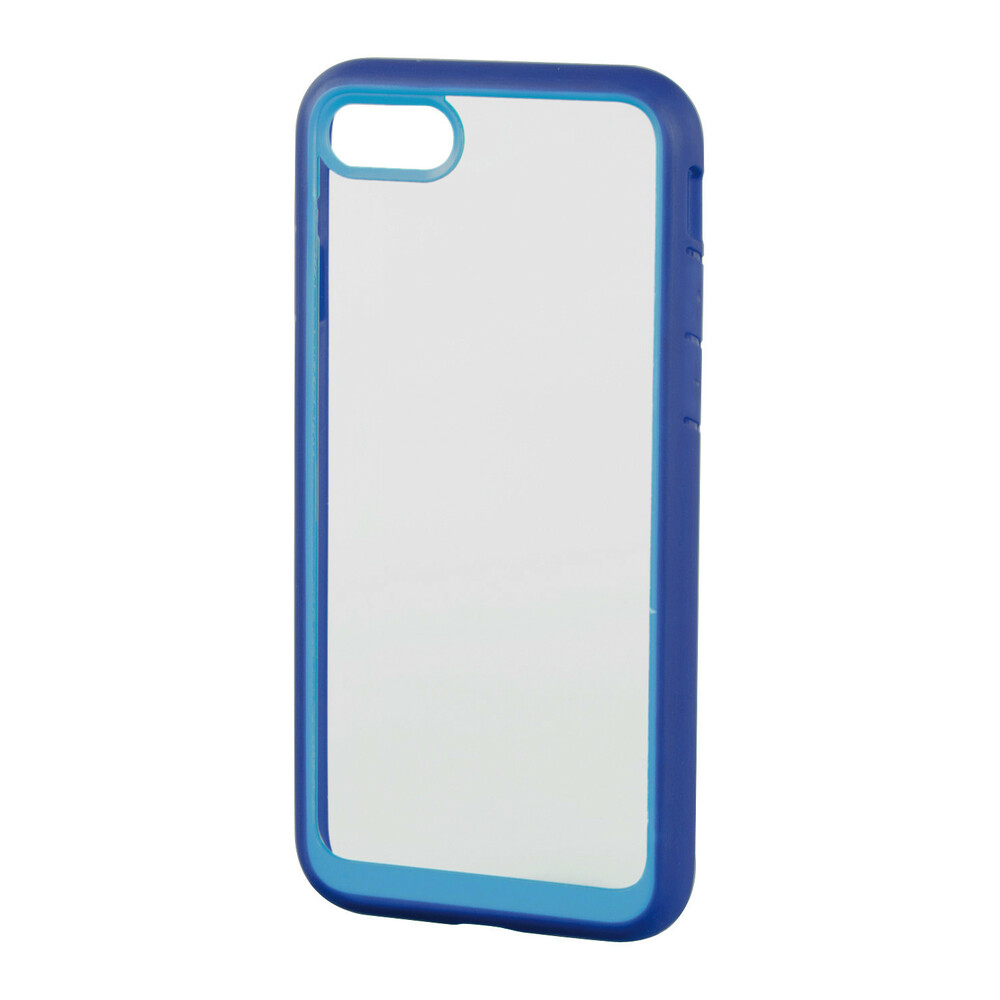 Prime, protective cover with colored frame - Apple iPhone 7 / 8 - Clear/Blue