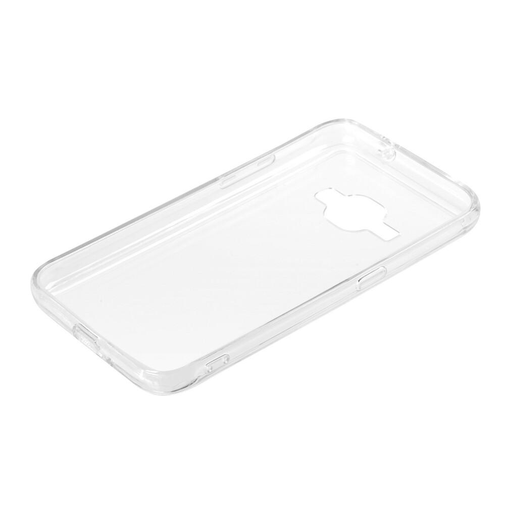 Clear Cover, cover trasparente rigida con cornice in gomma - Samsung Galaxy J1 2016