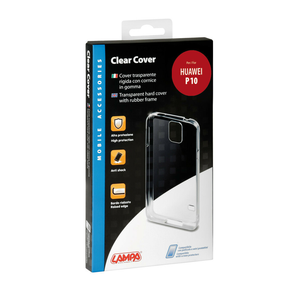 Clear Cover, cover trasparente rigida con cornice in gomma - Huawei P10