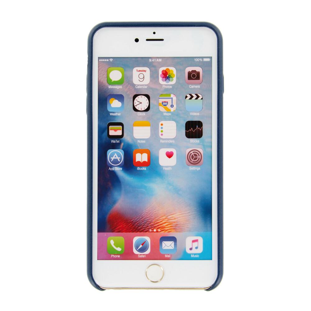 APPLE - IPHONE 6 S PLUS - COVER CUSTODIA IN PELLE - BLU SCURO