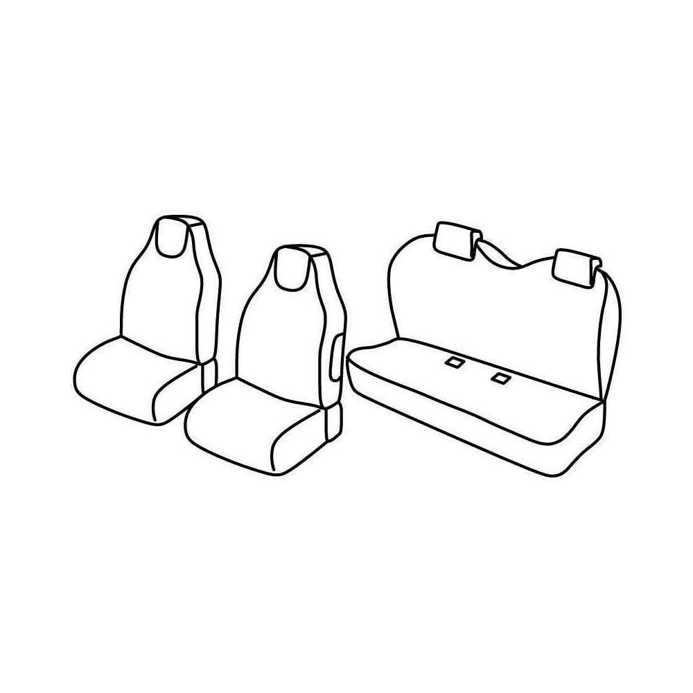 Set coprisedili Superior - Beige - Citroen C1 3p (05/05>02/12) - Citroen C1 5p (05/05>02/12) - Peugeot 107 3p (07/05>02/12) - Pe