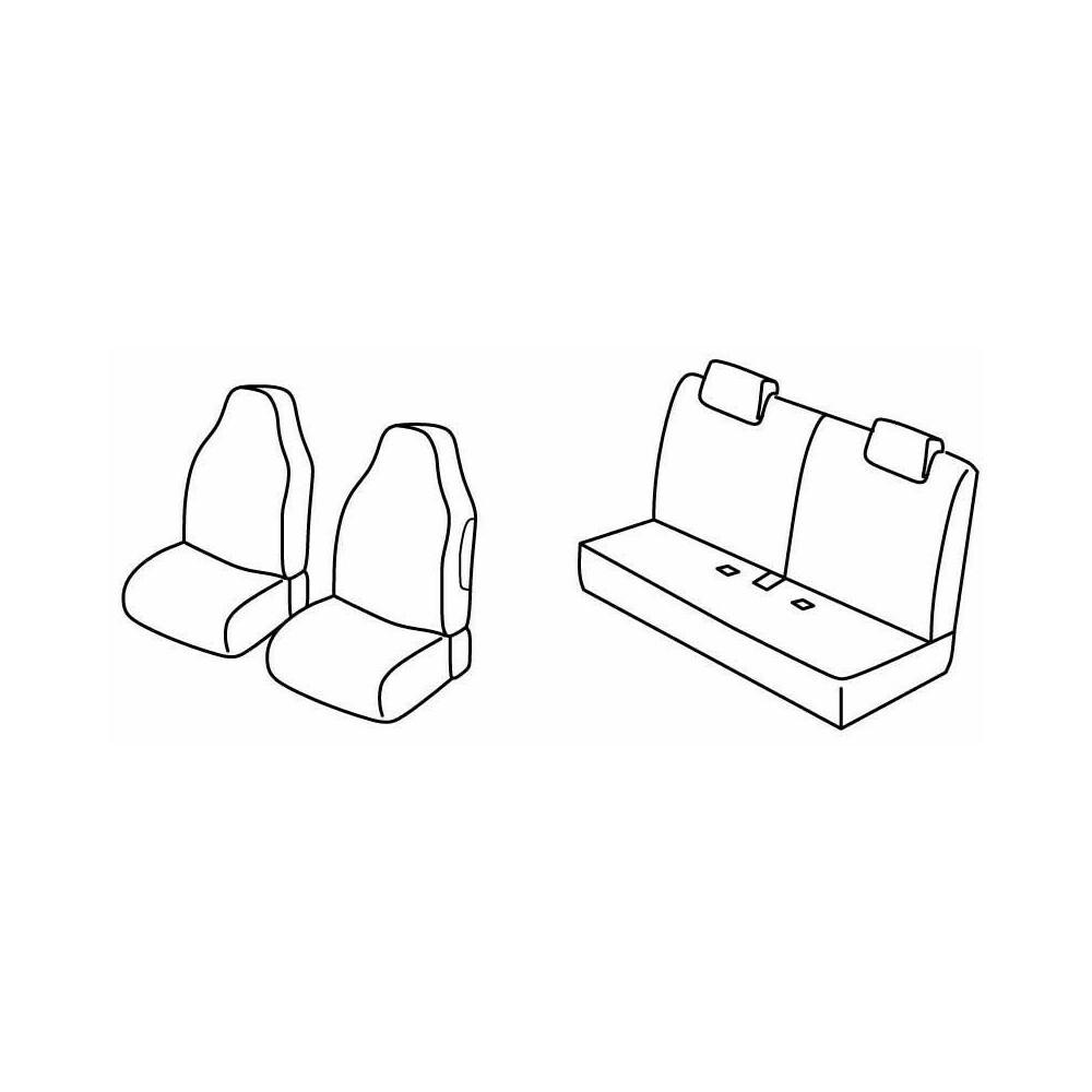 Set coprisedili Superior - Beige - Citroen C1 5p (06/14>) - Citroen C1 Airscape 5p (06/14>)