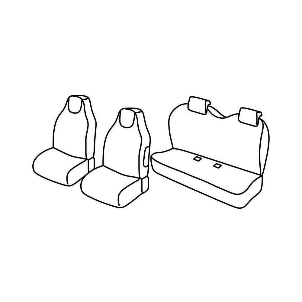 Set coprisedili Superior - Beige - Citroen C1 3p (03/12>05/14) - Citroen C1 5p (03/12>05/14) - Peugeot 107 3p (03/12>12/14) - Pe