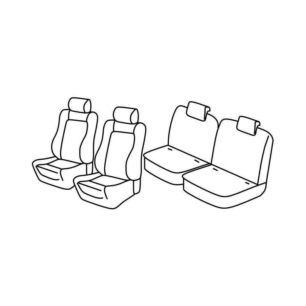Set coprisedili Superior - Beige - Citroen C2 (VTR) (10/03>03/10)