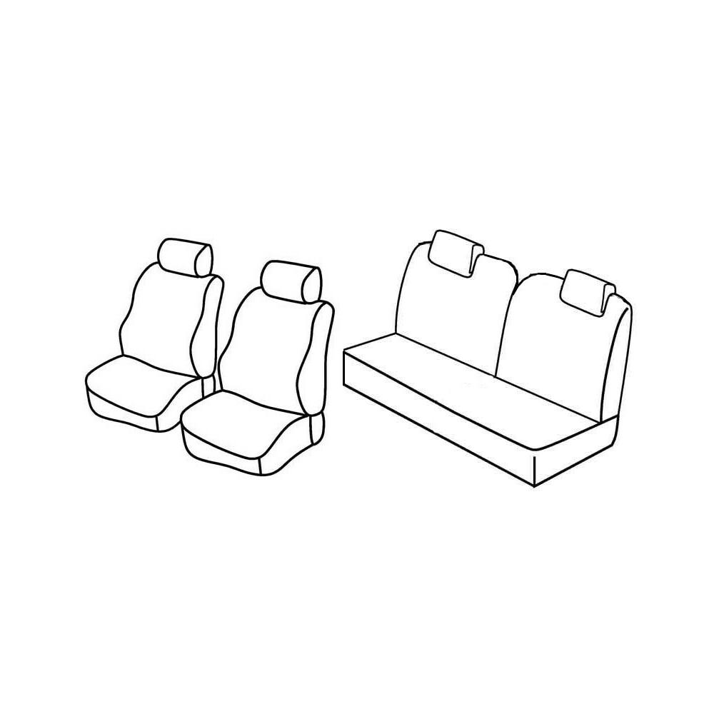 Set coprisedili Superior - Beige - Citroen C2 (Tonic) (10/03>03/10)