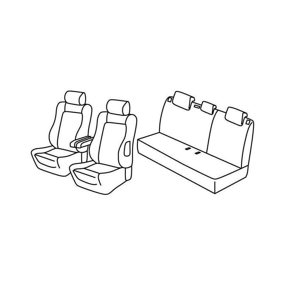 Set coprisedili Superior - Beige - Citroen C3 (09/05>10/09) - Citroen C3 Classic (11/09>12/10)