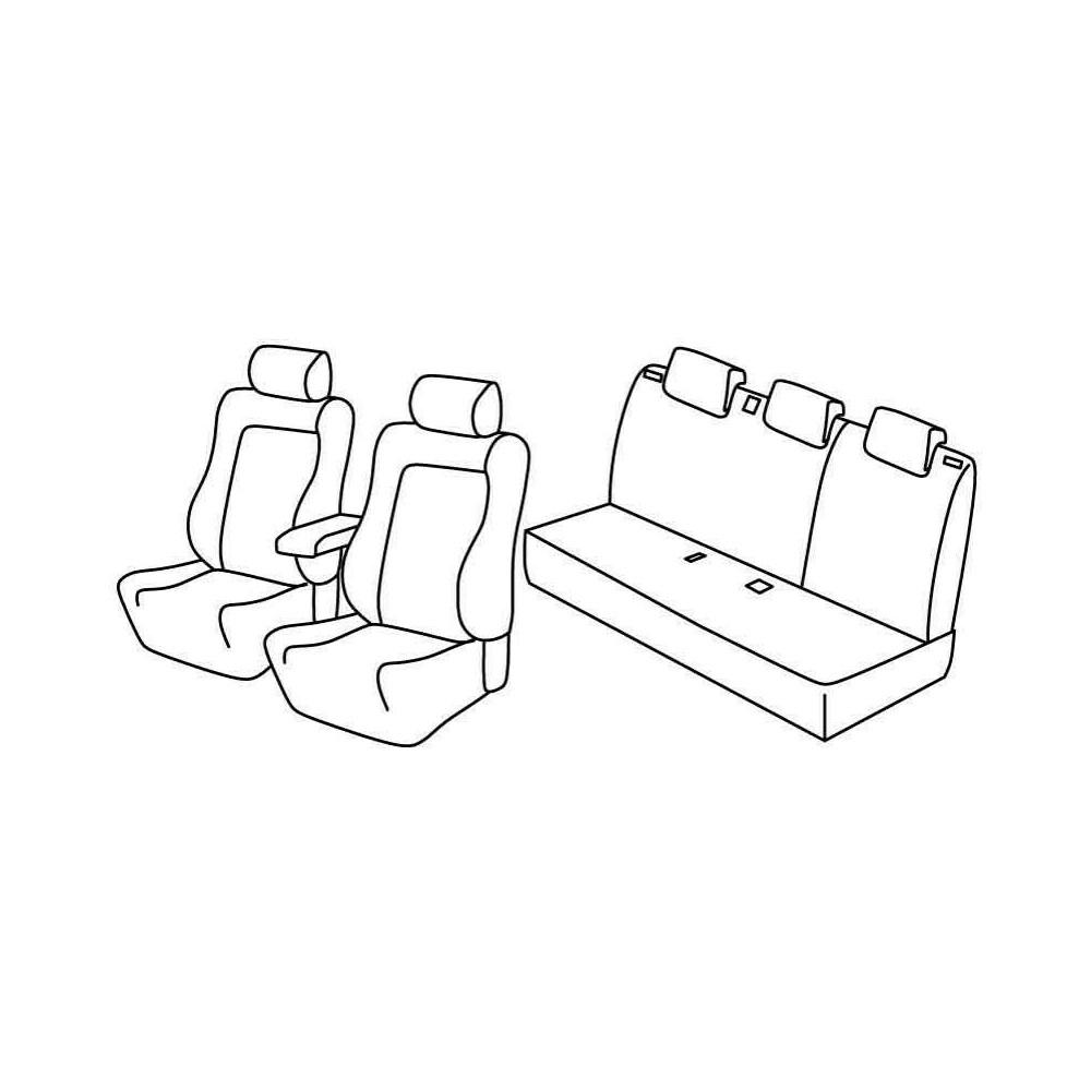Set coprisedili Superior - Beige - Citroen C3 (Comfort) (05/13>10/16)