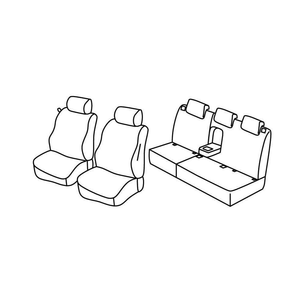 Set coprisedili Superior - Beige - Citroen C3 Picasso (Comfort) (01/09>10/12)