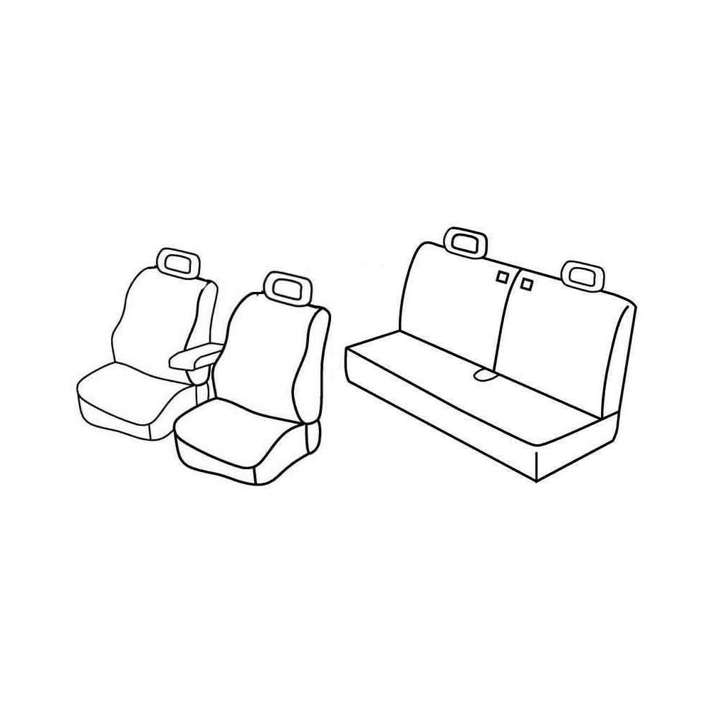 Set coprisedili Superior - Nero/Grigio - Suzuki Jimny 3p (01/98>)