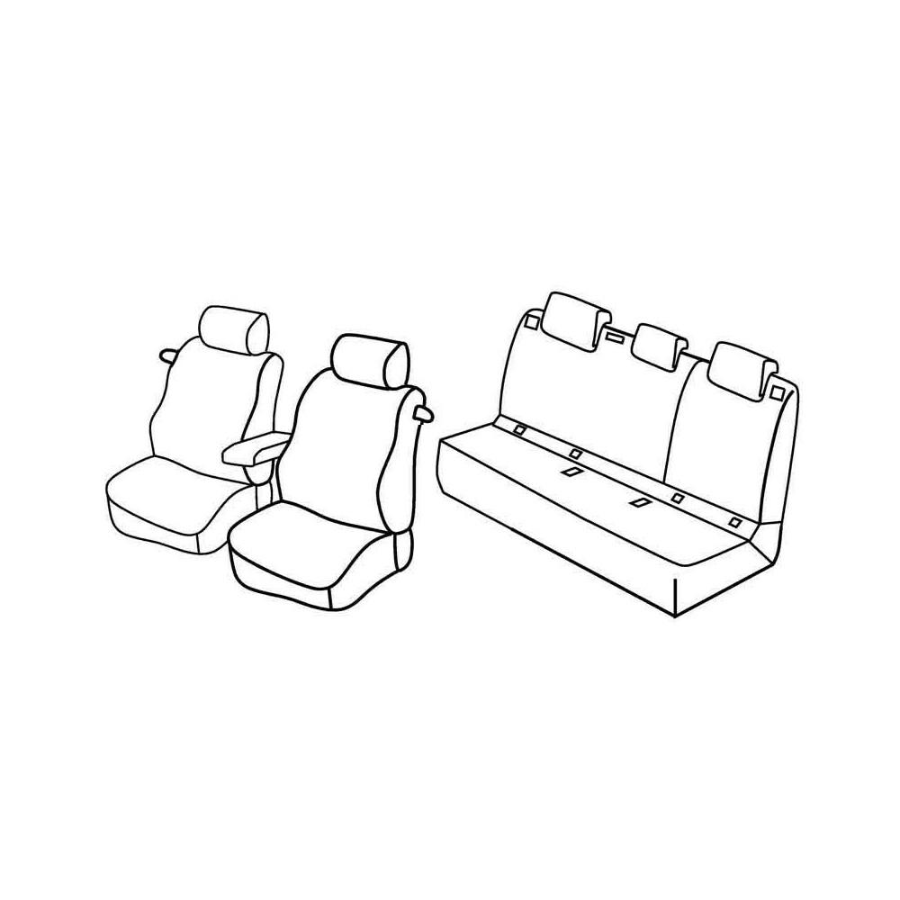 Set coprisedili Superior - Beige - Audi A3 3p (Attraction) (09/12>07/16)