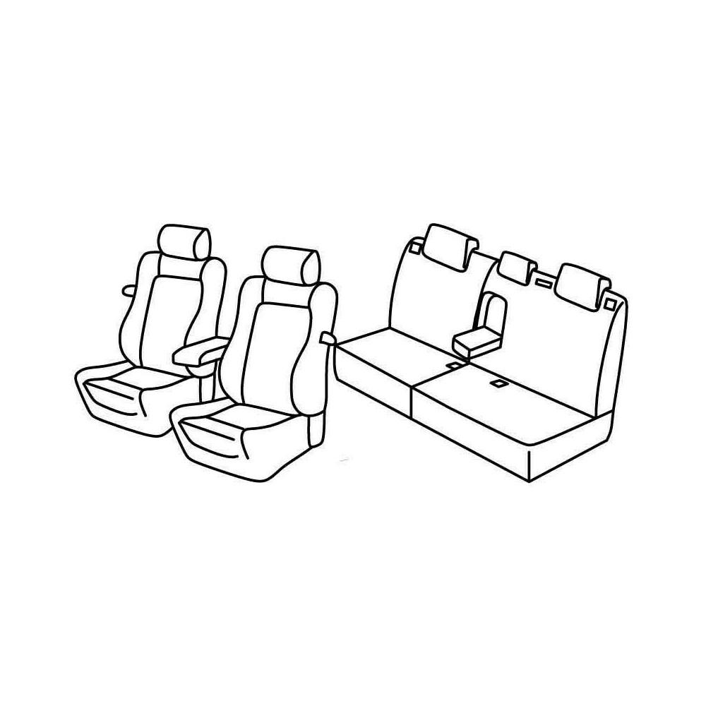 Set coprisedili Superior - Beige - Citroen C4 3p (VTS) (01/05>10/10)