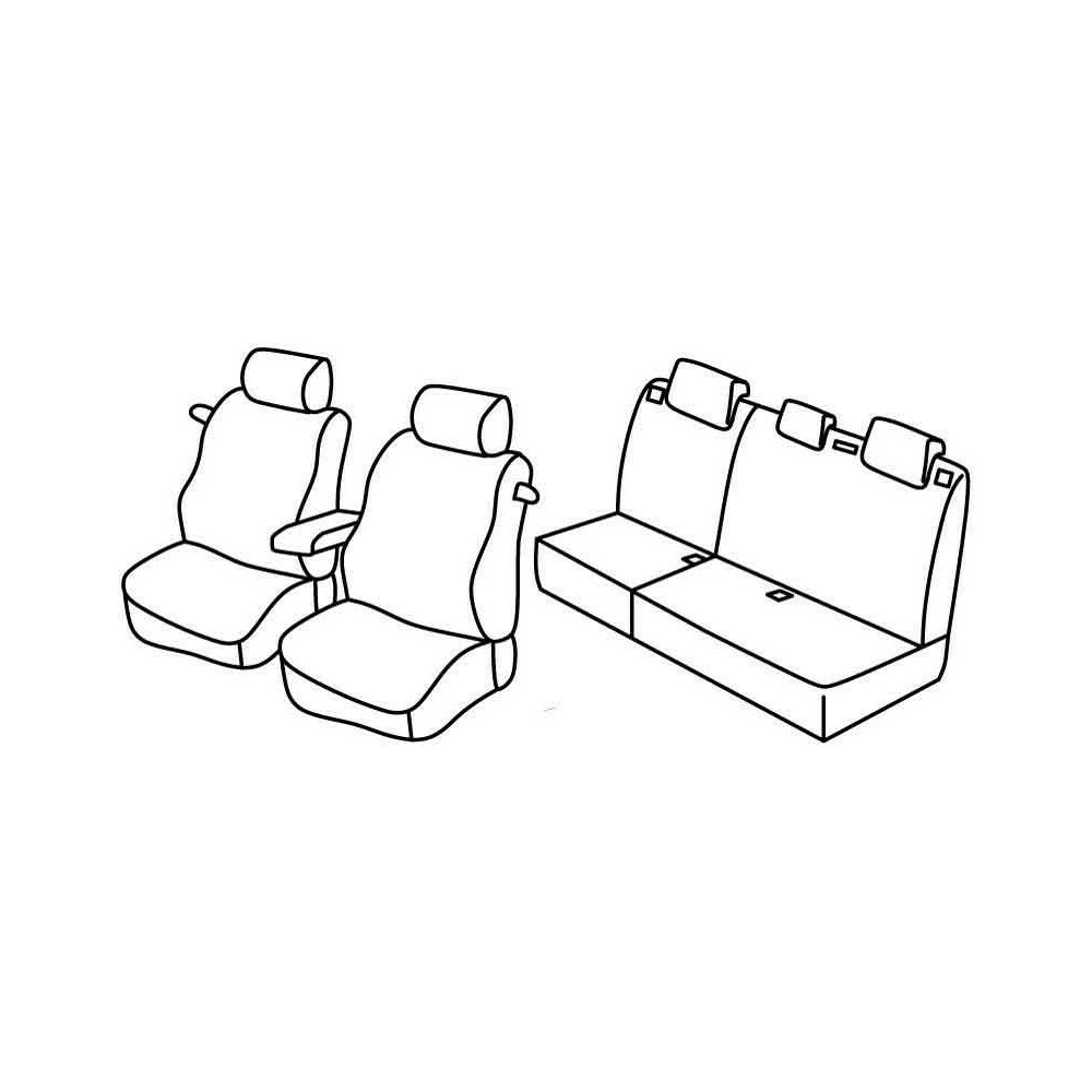 Set coprisedili Superior - Beige - Citroen C4 3p (01/05>10/10)
