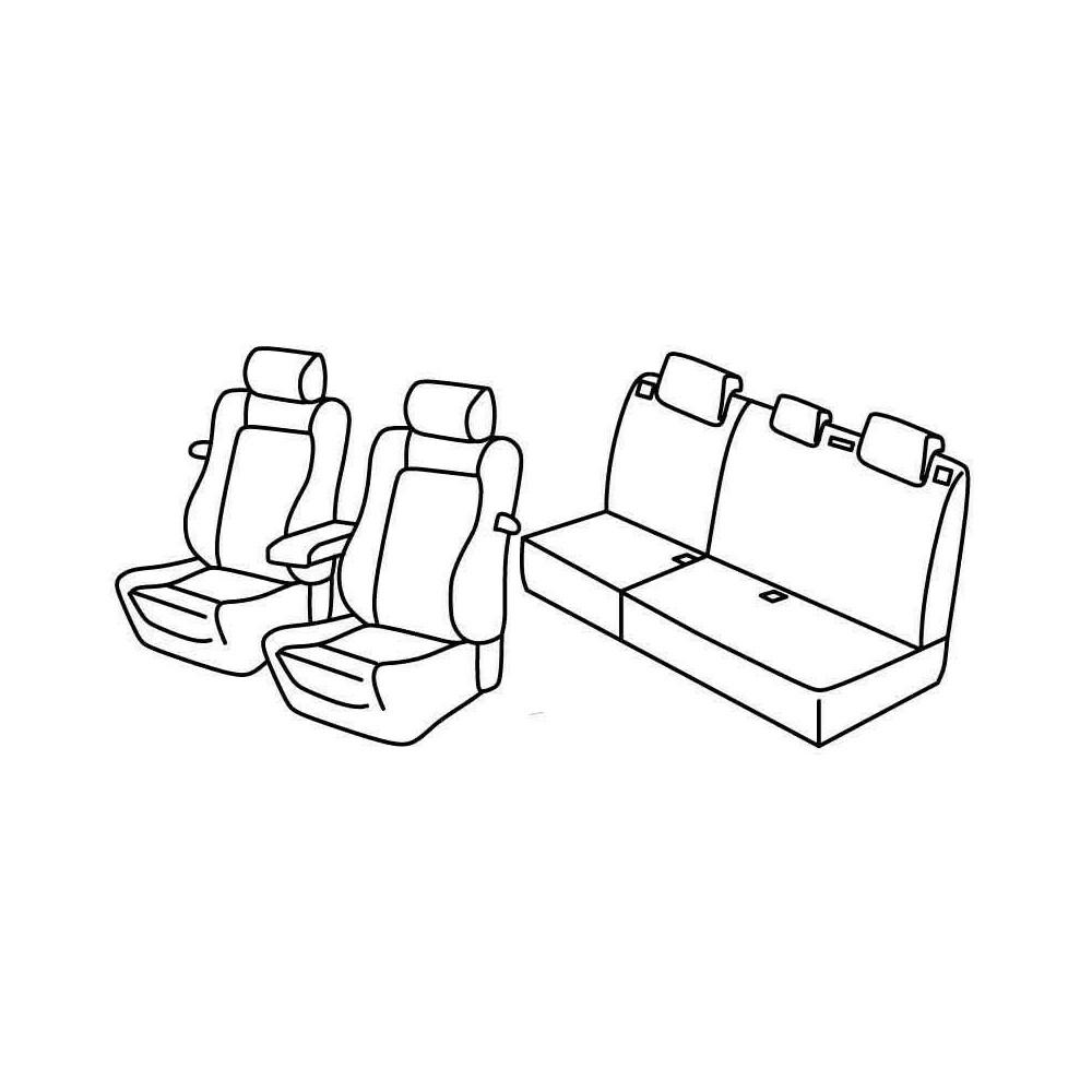 Set coprisedili Superior - Beige - Citroen C4 3p (VTR) (01/05>10/10)