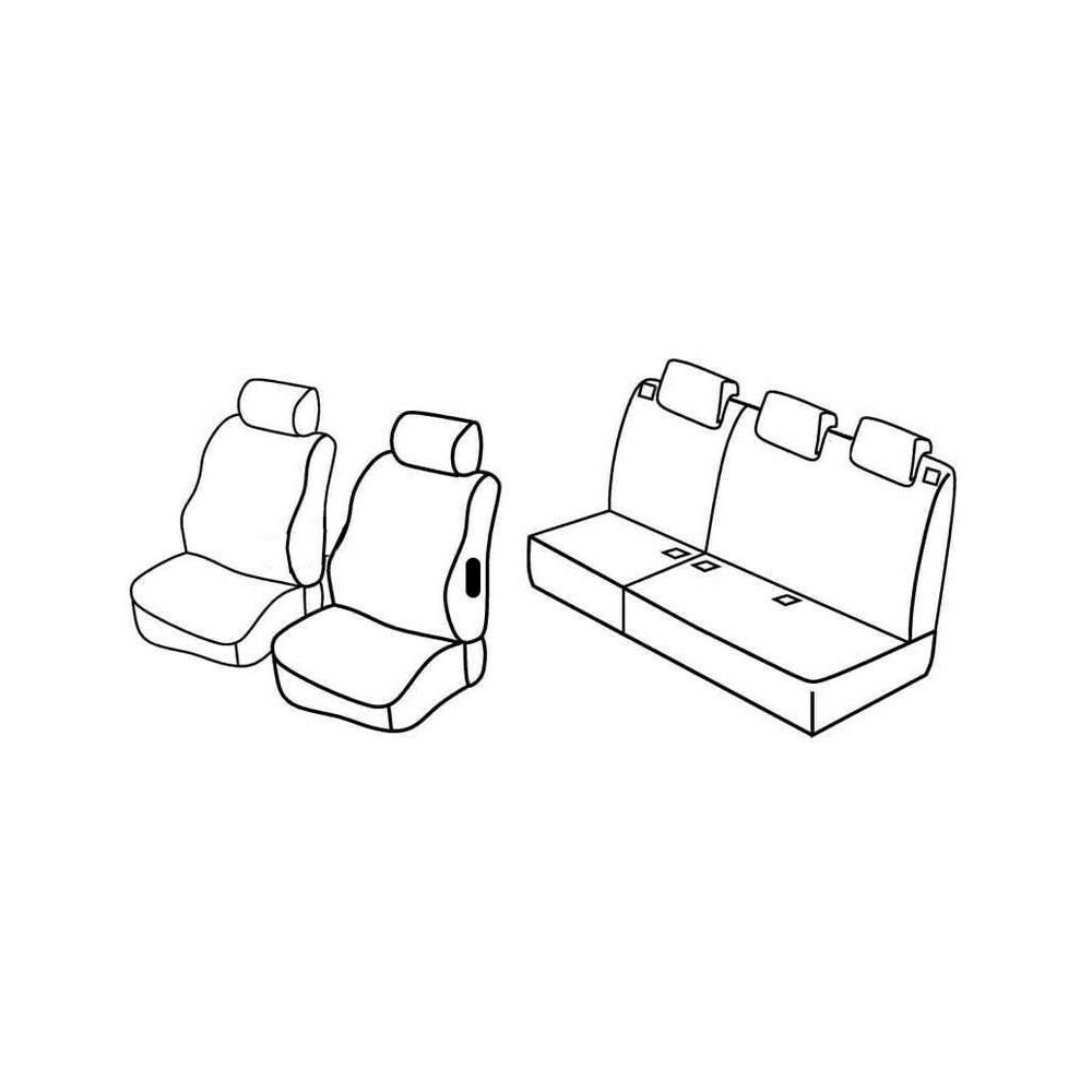 Set coprisedili Superior - Beige - Citroen Berlingo Multispace 5p (04/08>) - Peugeot Partner Tepee 5p (05/08>)