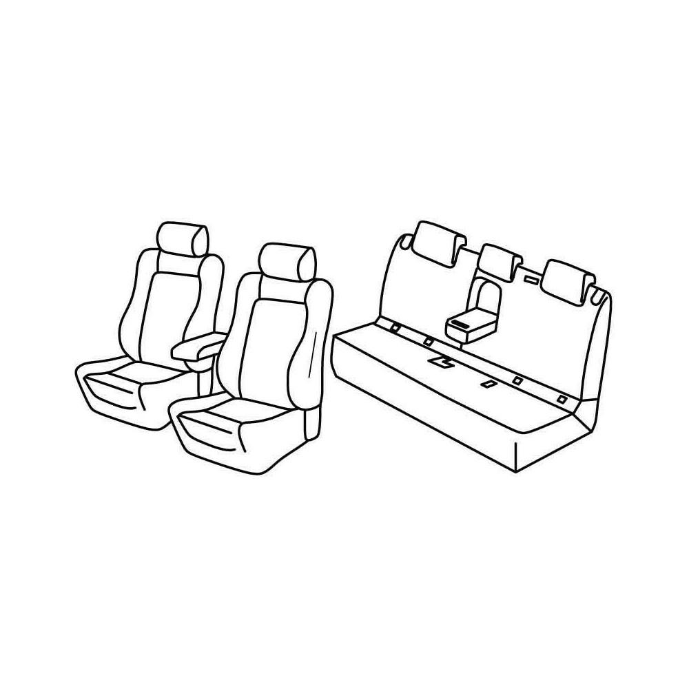NERO-BLU EFFETTO Coprisedili 3d per MERCEDES BENZ CLASSE B AUTO RIVESTIMENTO ANTERIORE