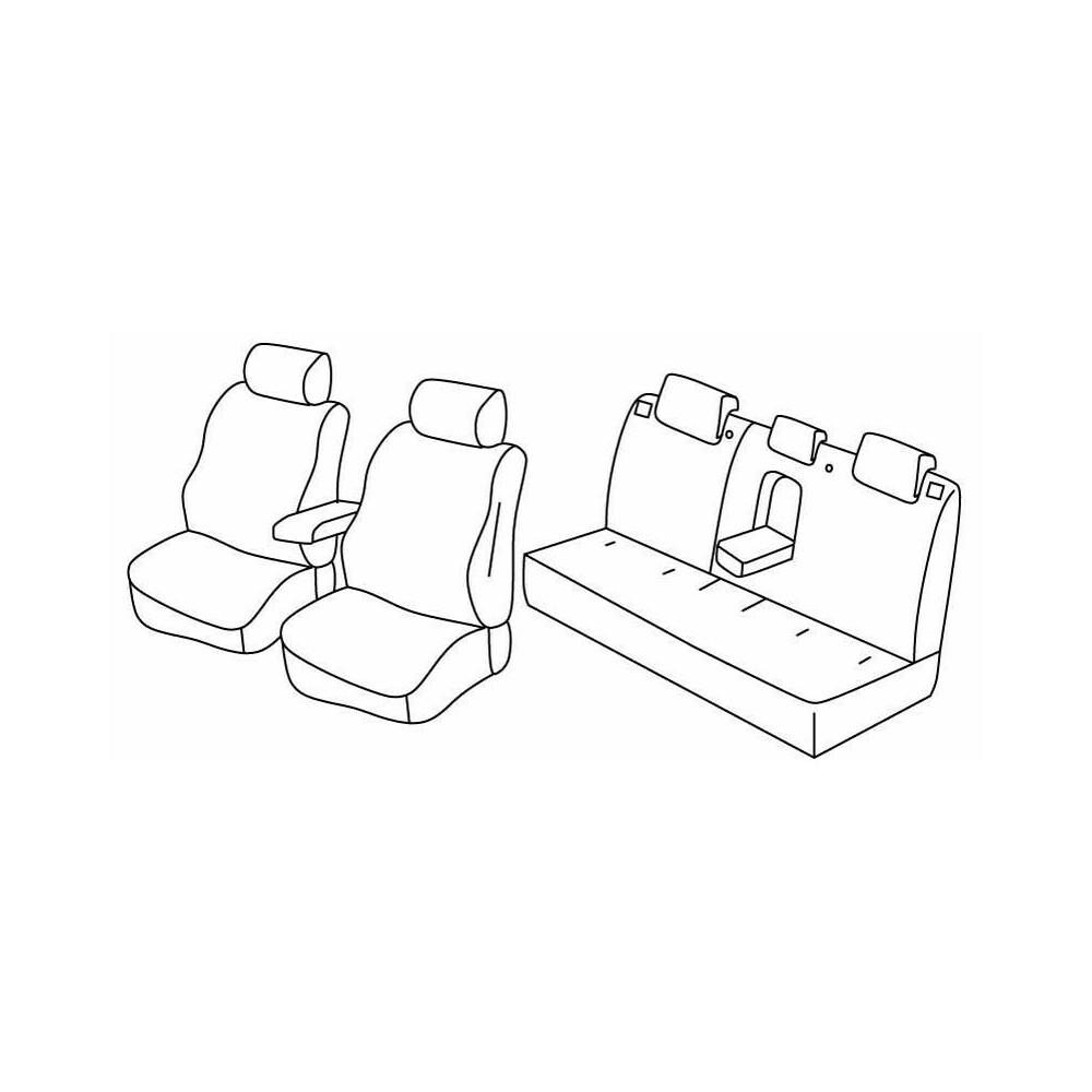 Set coprisedili Superior - Nocciola - Mitsubishi Lancer 4p (07/08>12/11)