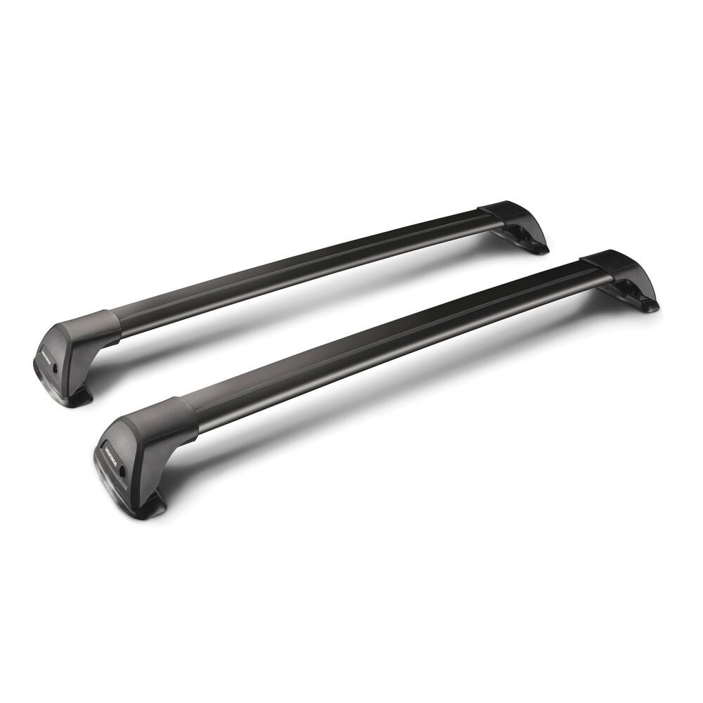 Flush Black, pair of telescopic aluminium roof bars - 90 cm