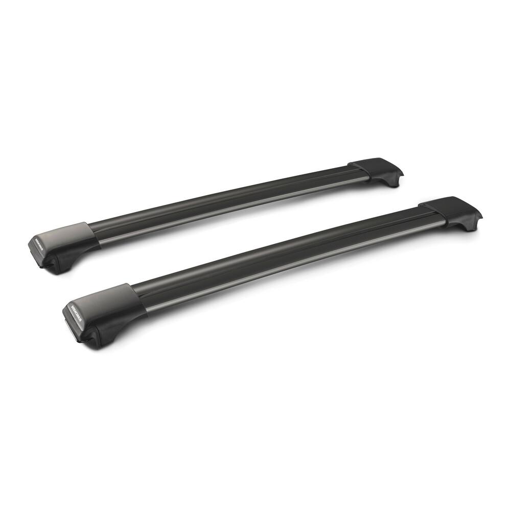 Rail Black, pair of telescopic aluminium roof bars - 79 cm