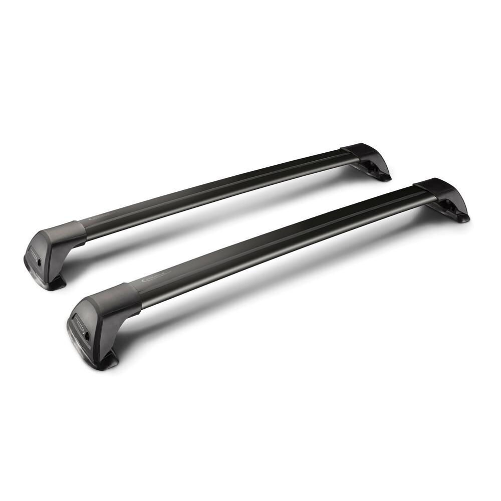 Flush Black Mixed, pair of telescopic aluminium roof bars - 105+115 cm