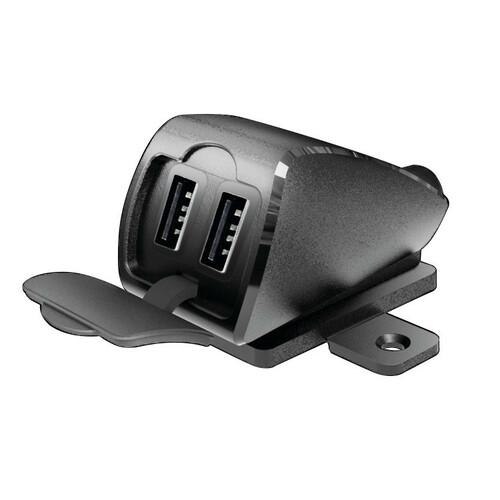 LAMPA 38882 Caricabatteria DIN-Tech 2700 mA 12//32V con 2 Porte USB