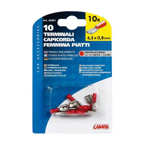 Blu Lampa 45064 10 terminali capicorda Femmina Rotondi