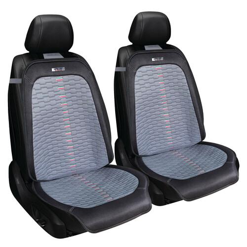 Per Nissan Opel Ford Coprisedili Grigio Neri Coppia Fodere 1+1 Kit Anteriore