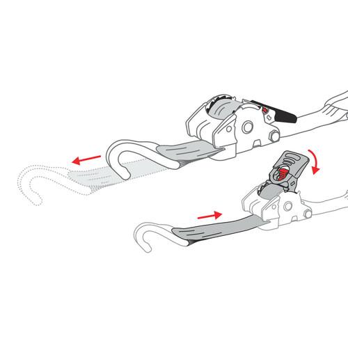 Self-retracting heavy duty ratchet tie-down - 2,5x300 cm 2