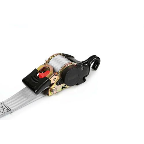 Nastro tensore con cricchetto autoretrattile, doppio gancio - 5x300 cm 2