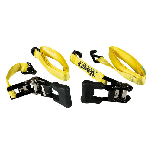 Pro-Safe, heavy duty ratchet tie-down straps set - 5 m