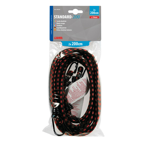 Standard elastic cords - Ø 10 mm - 2x200 cm