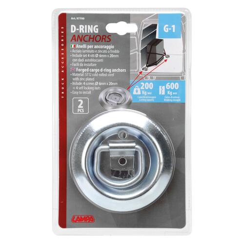 G-1, steel round mount rings, 2 pcs 6