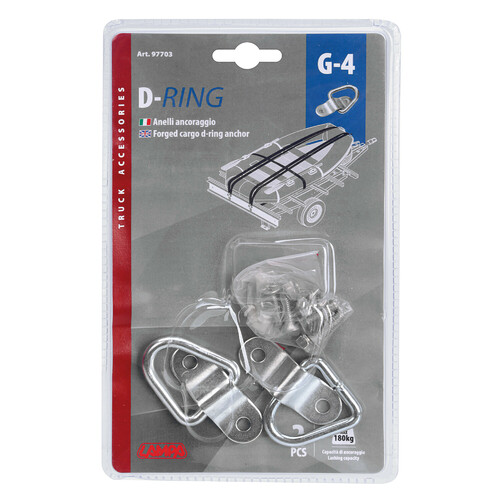 G-4, forged cargo d-ring anchor, 2 pcs 6