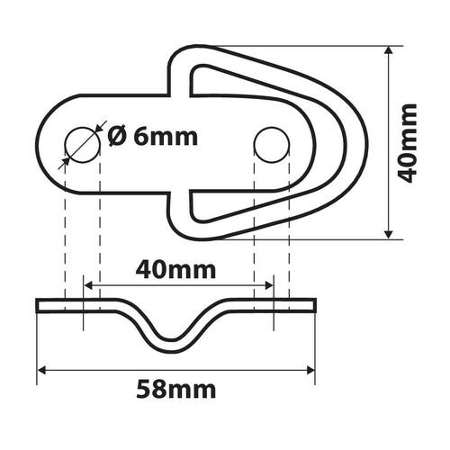 G-4, anelli per ancoraggio, 2 pz 4