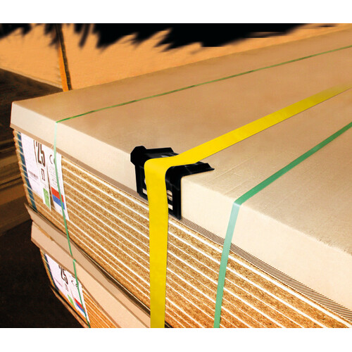 Plastic corner protector for cargo lashing strap 2