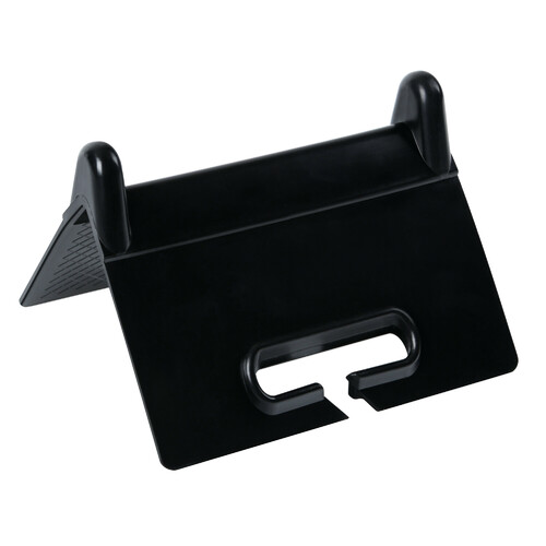 Plastic corner protector for cargo lashing strap