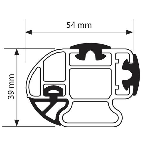 Kargo-Plus, barra portatutto alluminio - 180 cm 1
