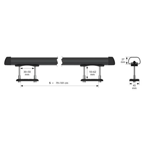 Club, steel roof bars, 2 pcs - S - 110 cm 8