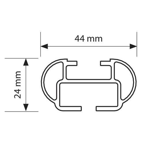 Kuma, coppia barre portatutto in alluminio - M - 122 cm 2