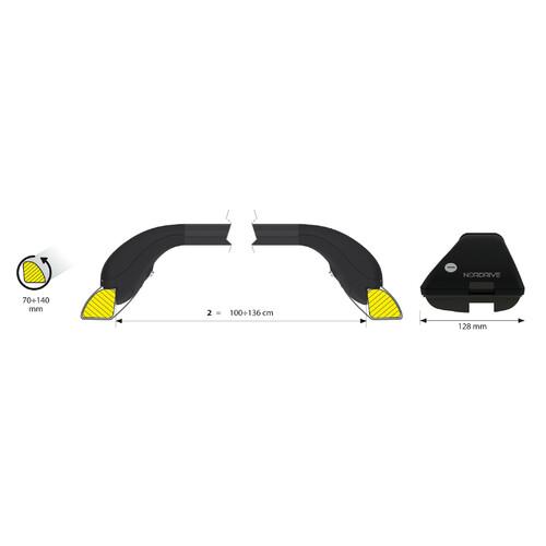Snap-Fit Steel, telescopic steel roof bars, 2 pcs - Size 2 - 100÷136 cm 3
