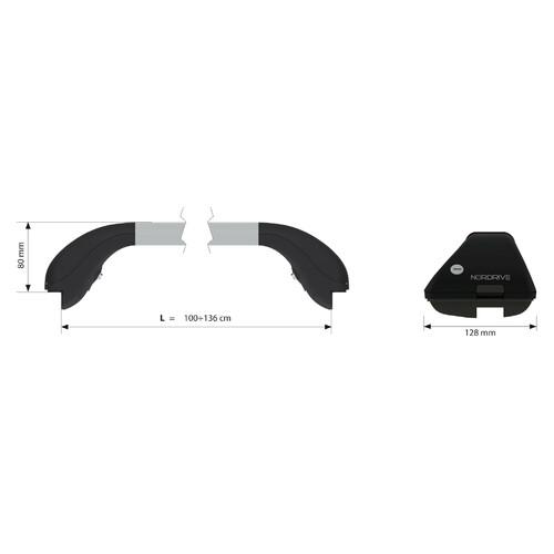 Snap Alu, coppia barre portatutto telescopiche in alluminio - L - 100÷136 cm 2